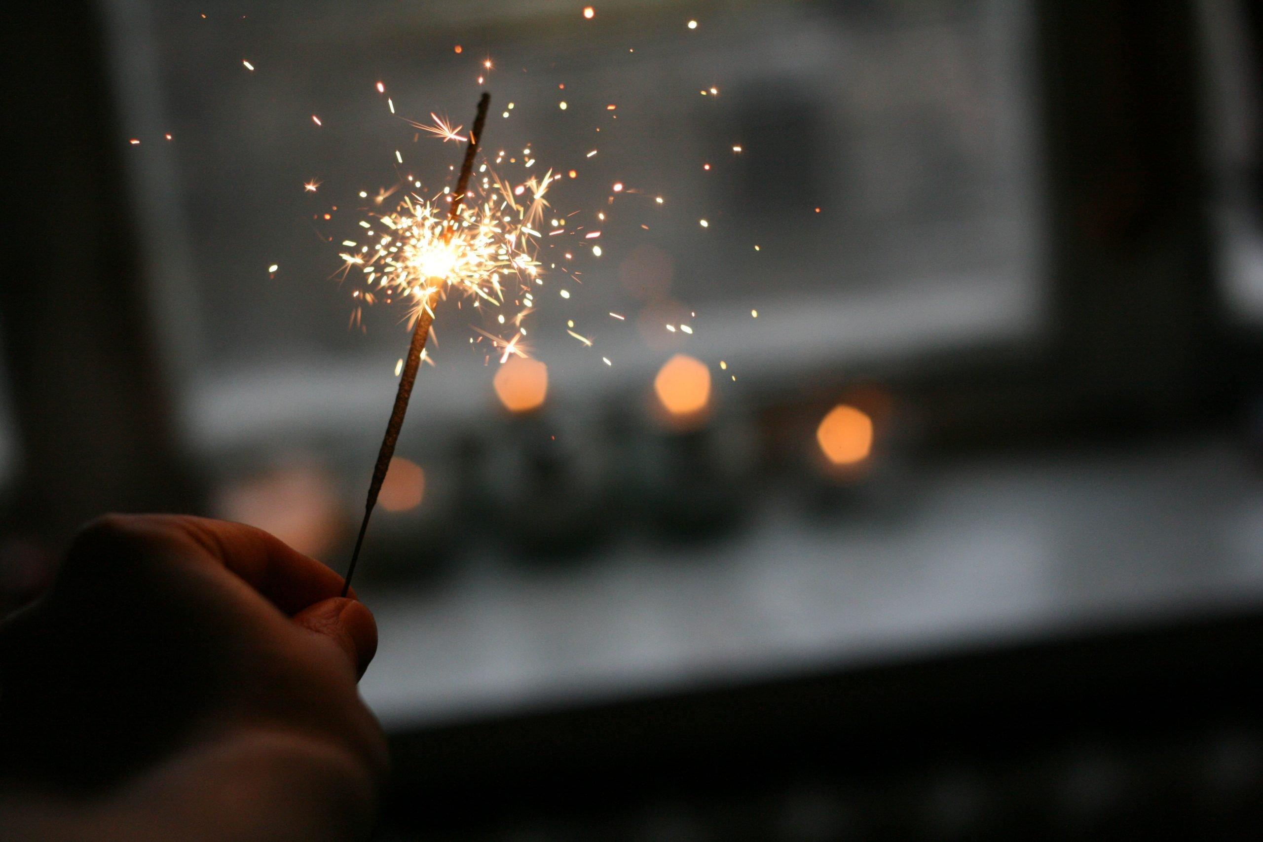 luz navideña año nuevo